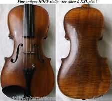 OLD GERMAN 19th C HOPF VIOLIN - video - ANTIQUE master バイオリン rare скрипка 802