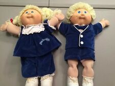 1985 Cabbage Patch Twins Dolls Blonde Blue Eyes Coleco