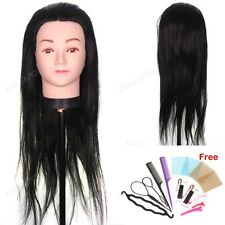 Synthetic Hair Cosmetology Salon Training Mannequin Head Practice & Braid Tool