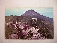 VINTAGE PHOTO POSTCARD SWINGING BRIDGE GRANDFATHER MOUNTAIN LINVILLE N.C. UNUSED