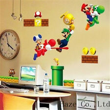 Super Mario DIY Removable Vinyl Wall Stickers Decal Wallpaper Art Home Decor KID