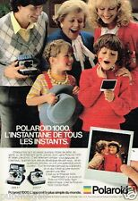 Publicité advertising 1980 Appareil photo Polaroid 1000
