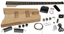 Solo SB Headless Style DIY Bass Guitar Kit, Ash Body, Rosewood FB, Bolt-on Neck