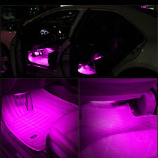 4X Car 12V Glow Interior Charge Footwell Accessories 9LED Floor Decorative Lamp