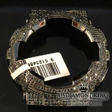 MENS WOMENS CUSTOM G-SHOCK BEZEL 14K BLACK GOLD FINISH DIAMOND SIMULATED GA 100