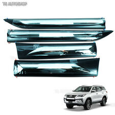 Chrome Side Doors Cladding Moulding Trims Fitt Guards Toyota Fortuner Suv 2016