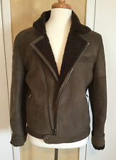 NWT $5890 BRUNELLO CUCINELLI Men Shearling Fur Bomber Jacket  US 40/ EU 50