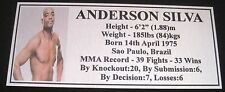 "MMA ANDERSON SILVA Champion Silver Photo Plaque ""FREE POSTAGE"""