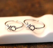 2 piece XO Knuckle Ring 3 & 6 Size Kiss and Hug Infinite Love  Best Friend Ring