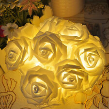 20-LED Rose Flower Fairy Wedding Garden Party Christmas Decor Xmas String Lights