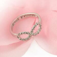 CLASSIC Engraved LUCKY Digital Mini 8 character Infinity Ring Best Friend Gift