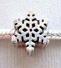 ONE Charm Bead CHRISTMAS SNOWFLAKE for European Style Bracelet and Necklace C7