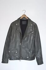 **AWESOME SAUCE** AllSaints Mens AKIRA Leather Biker Jacket XXL Cargo Conroy