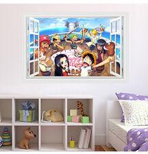 One Piece Anime Manga 3D Wandtattoo Wandaufkleber Wandsticker 90X60CM PVC Neu