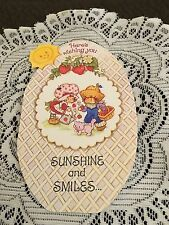 Vintage Greeting Card Easter Egg Strawberry Shortcake Friends