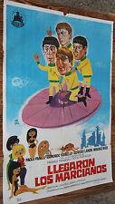 Used - Cartel de Cine  LLEGARON LOS MARCIANOS  Vintage Movie Film Poster - Usado