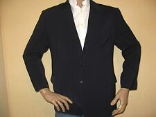 DARK BLUE SINGLE BREASTED MICROFIBRE FASHION SUIT WITH 2 PANTS 38S CHEST 30R