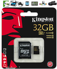 32GB Kingston tarjeta de memoria Micro-SD Para Samsung Galaxy S7 S7 Edge