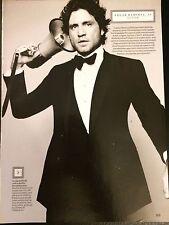 Edgar Ramirez 3pg ESQUIRE magazine feature, clippings