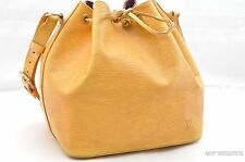 Authentic Louis Vuitton Epi Petit Noe Yellow Shoulder Bag LV 25711
