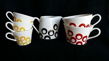 New-6 Mikasa Circle Chic Cups & Creamer(please see details) -ship free