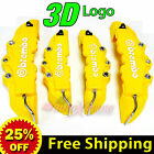 4 Pieces 3D Brembo Look Disc Brake Caliper Covers Front & Rear Universal YELLOW
