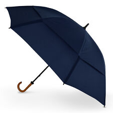 "Gustbuster Doorman XXL 68"" Vented Windproof Hook Handle Umbrella - Navy"