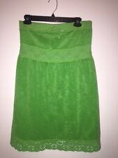 JUICY COUTURE TOWEL DRESS SIZE MEDIUM COVER-UP SEX AND THE CITY GREEN TUBE LACE