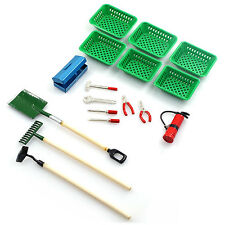 Yeah Racing 1/10 RC Crawler Car Rake, Shovel, Hoe, Fire, Tools & Trays YA-0367