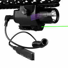 Green Laser Sight Hunting Scope&CREE LED Flashlight Combo Picatinny Rail Mount
