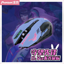 Game Anime Overwatch OW D.VA Cosplay Night Lights Laptop optical Wired Mouse