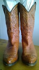 Dan Post Cowboy Boots with Ostrich full quill Toe Men's size 11 Cow Boy Western
