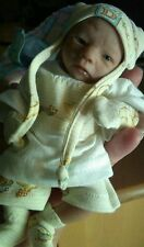 """One of a Kind 3/4 Limb, Soft Body, Clay Baby Boy, 8"""" with a Custom Made Chair"""