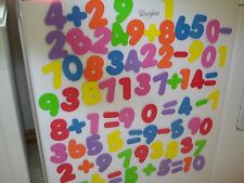 "Large Colorful 3"" soft foam numbers,plus/minus/equal symbolsMATH 83pc. magnetic!"