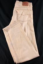 VINTAGE Men's LEVIS 501 36x34 STRAIGHT Fit Button RARE Tan Beige USA Made JEANS