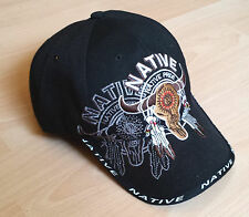 Basecap Native black, Western, Trucker, Biker, 3-D Stickerei, unisex