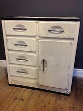 Vintage Retro Metal Kitchen Base Unit Cabinet Drawers Cupboard Storage