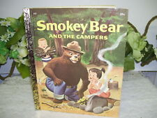 LITTLE GOLDEN BOOK SMOKEY BEAR AND THE CAMPERS 1971