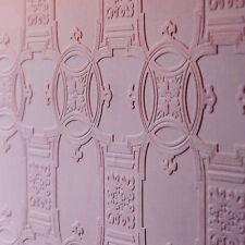 Textured Vinyl WHITE Victorian Tile Effect Paintable Wallpaper 10m - Anaglypta