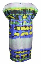 MSGM OVERSIZE KLEID BLAU MULTICOLOR GR. IT 42 D 36 * NEU