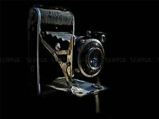 CULTURAL PHOTO CAMERA BLACK BRASS LENS SHUTTER ABSTRACT POSTER ART PRINT BB860A