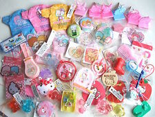 SANRIO Hello kitty My melody Kiki&Lala Pom pom purin Huge Lot Trinket mascot 50