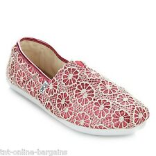 TOMS Classic Crochet Glitter Slip On-Youth - Pink Size 5 (Youth)