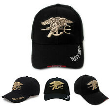 Free Shipping Black Outdoor Military Embroidered Navy Seal Baseball Cap Sunhat