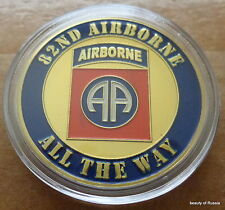 US  82 nd Airborne   24K GOLD  PLATED 40 mm  Challenge  COIN
