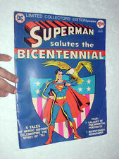 SUPERMAN SALUTES THE BICENTENNIAL COMIC BOOK Limited Collectors' Edition C-47
