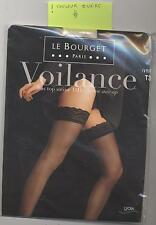 NEUF LE BOURGET BAS TOP AUTOFIXANT SATINE 15D IVOIRE TAILLE 3 MARIAGE SOIREE