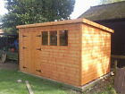 "12X8 OR 14X6 WOODEN GARDEN SHED 13MM T/G ""2X2 ""CLS FRAME 1"" THICK FLOOR"