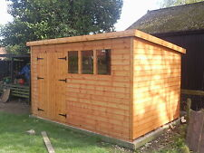 """12X8 OR 14X6 WOODEN GARDEN SHED 13MM T/G """"2X2 """"CLS FRAME 1"""" THICK FLOOR"""