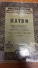 Haydn: Quartetto stringa: opus 17 numero 5: G grandi: SPARTITO MUSICALE (m10g07)